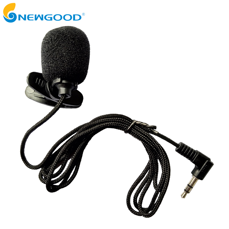 NEWGOOD Mini Portable Clip-on Lapel Lavalier Microphone 3.5mm Jack For PC Handsfree Wired Condenser Mic For teaching Speeching