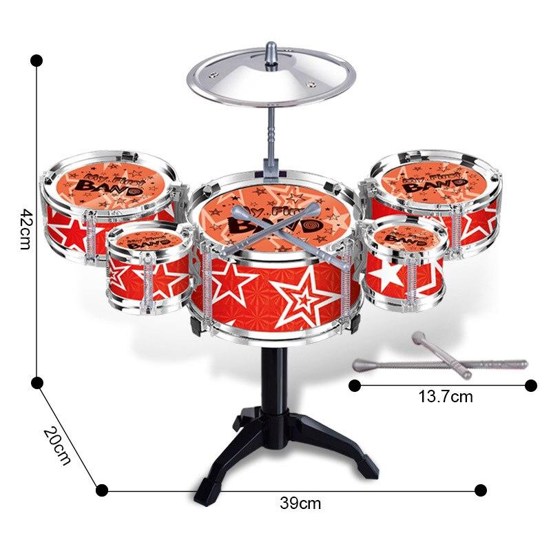 Enfants Simulation Battre Jazz Tambour Mini Cinq Tambour Tambour Jouets Musique Percussion Instrument Apprentissage et L'éducation Jouets