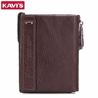 KAVIS 2017 New Band Wallet For Men Genuine Leather Fashion Male Purse Credit Card Holder With