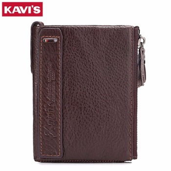 KAVIS Band Wallet Men Genuine Leather Fashion Male Coin Purse Credit Card holder With Pocket Small Walet For Mini And Portomonee pocket