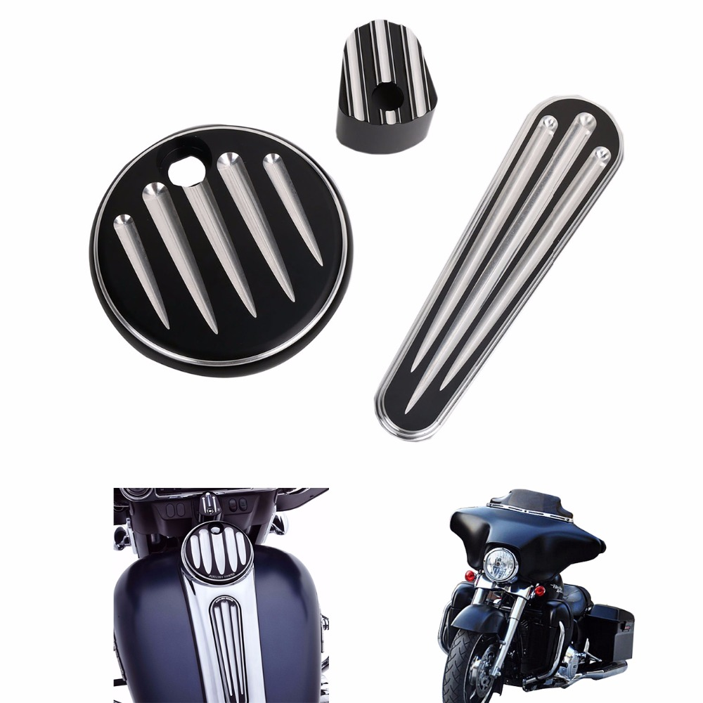 Motorcycle CNC Black Deep Cut Dash Accessory Pack for Harley Touring FLHX FLTRX 2008 2009 2010 2011 2012 2013 C/5