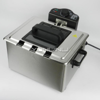 5L Electric Deep Fryer Household Electric Deep Frying Machine Stainless Steel Frying Cooker WJ 801