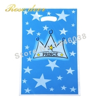 500pcs Lot Prince Crown Theme Party Gift Bag Party Decoration Plastic Candy Bag Loot Bag For