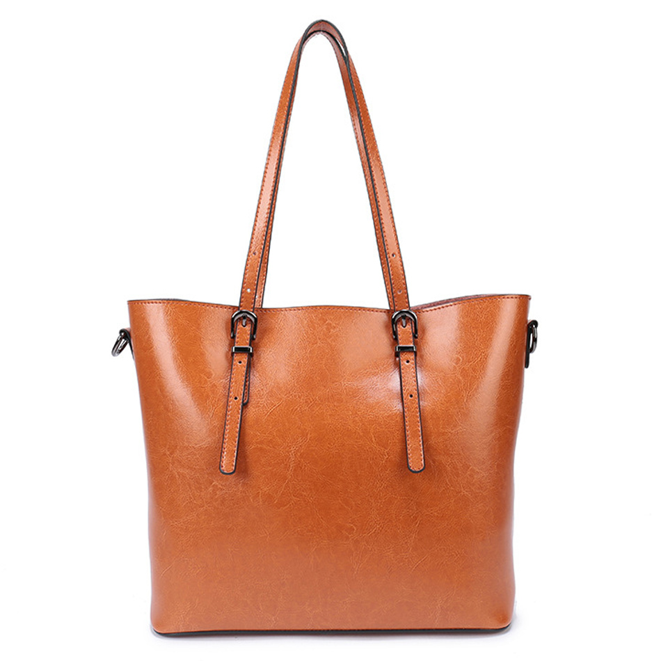 Women leather handbags Famous Brands Big Casual Women Bags Wax oil skin Shoulder Bag Ladies large Bolsos Mujer sac a main new fashion style belt top handle bags women bags handbags women famous brands oil skin solid soft female casual tote sac a main