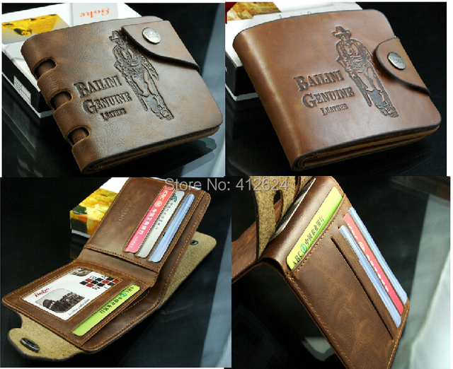 worldwide Free shipping Design mens wallet & fine Leather top Center Bifold Purse brand Grid for men wallet