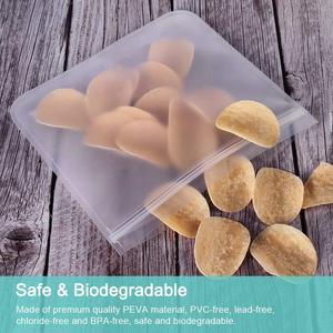 Image 4 - 5Pcs/lot EVA Freezing Bags Reusable Food Storage Bags Leakproof Ziplock Bags Resealable Sandwich Bag For Lunch Food Snack Makeup