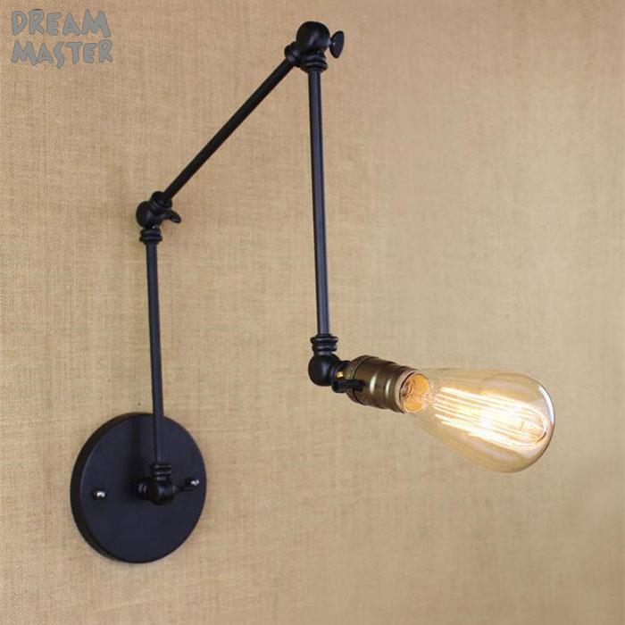 Lights & Lighting Humor Loft Industrial Adjustable Iron Wall Lamps Long Swing Arm Vintage Wall Lights For Aisle Corridor Restaurant Bar Lighting Fixture