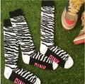 Развеселить носки Чулки длинные Болельщик 31 см Колено носки Medias Розовый 2 шт.