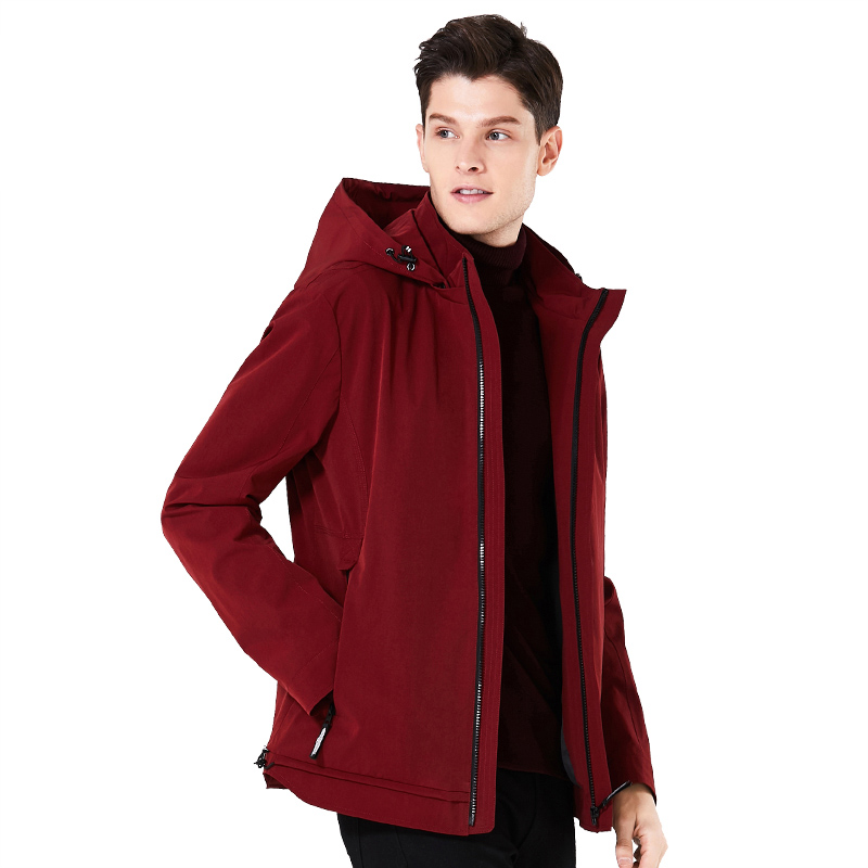 2018 new spring men's casual hooded High-quality men jacket short loose man coat brand spring coats with zippers MWF18099D askona матрас askona terapia farma 90 190