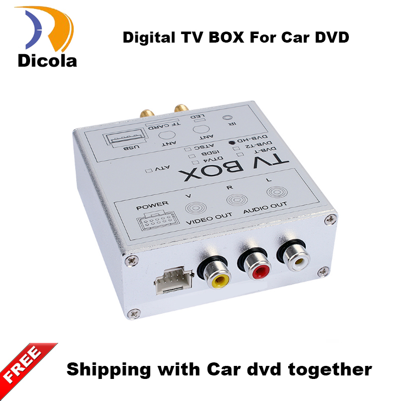 ФОТО Double antenna 120KM/H (Max) High Speed Car HD DVB-T2 H.264 MPEG-4 Mobile Digital TV Turner Receiver For Russia Thailand