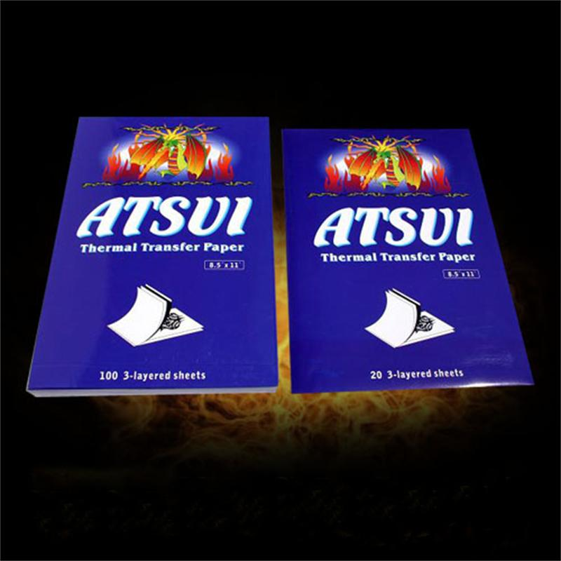 100 Sheets ATSUI Tattoo Carbon Stencil Thermal Transfer Paper Supply Tattoo Accessories Supplies 100 sheets 100