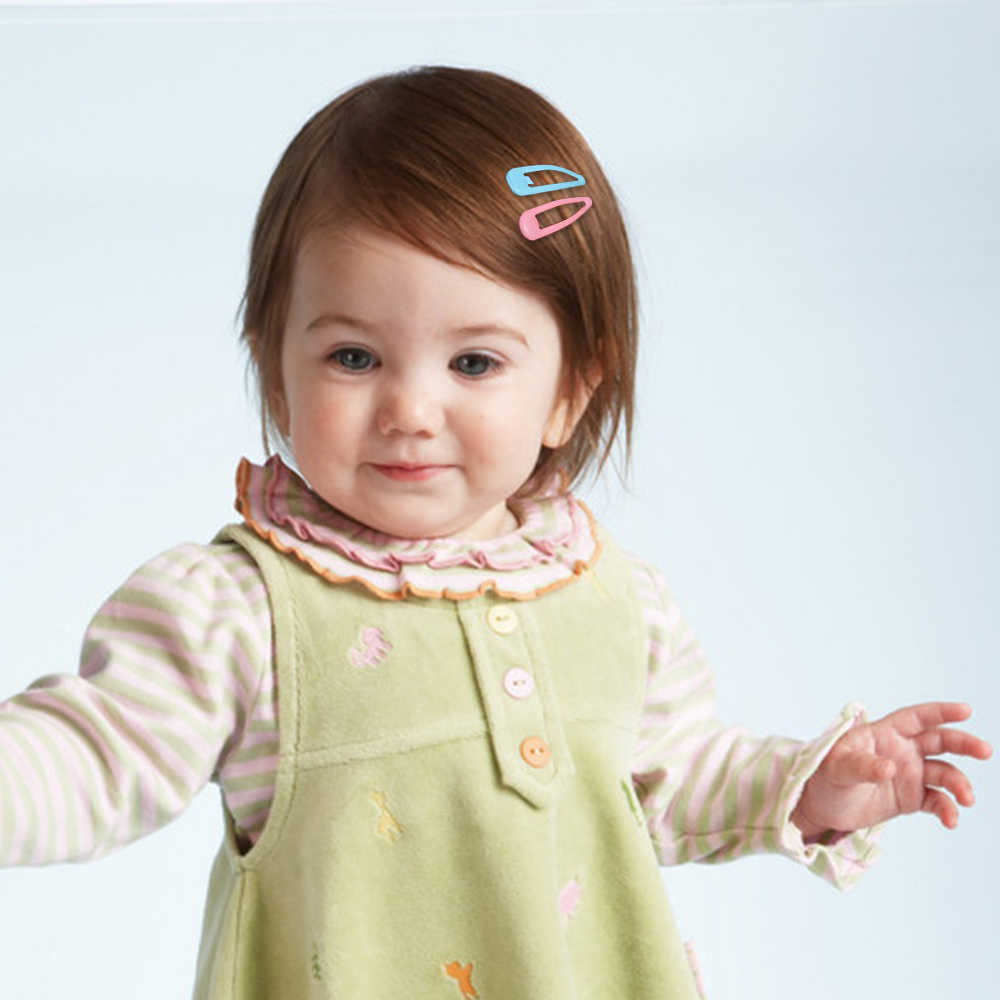 18pcs เด็กทารกคลิปผมสำหรับผม Snap คลิปคลิปหัวใจรูปดาวสี Hairpins เด็กผู้หญิงเด็กผู้หญิงโลหะ Barrettes 5 ซม.