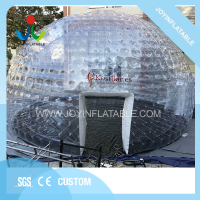 Dia 10M Large Inflatable Transparent Igloo Tent For Party Event With Tunnel