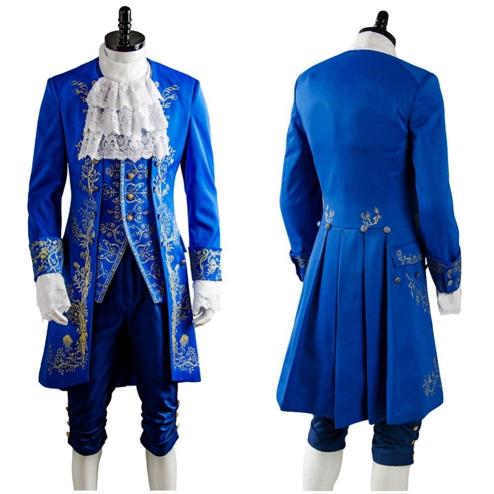 Красота и чудовище Косплэй костюм Дэн Стивенс принц наряд костюм Косплэй костюм для взрослых Для мужчин Хэллоуин Карнавал Полный Наборы дл