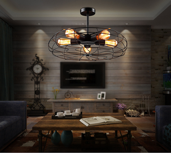 Modern Fan Pendant Lights Iron Minimalist Retro Scandinavian Loft Pyramid Lamp Metal Hanging Lamp E27 Indoor