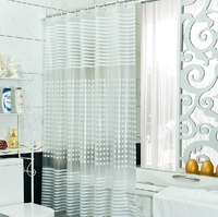 PEVA shower curtain shower curtain thick waterproof bathroom shower curtain fabric shower curtain can be customized