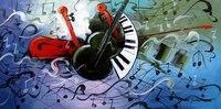 Горячая 100% ручная роспись искусств высокого качества Скрипки стиль абстрактной живописи, холст картины quadros де Parede сала ЭСТАР деко