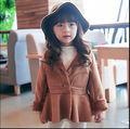 2017 New Autumn/ Winter Children Clothing Faux Suede Single-breasted Joker Baby Girl Short Coat