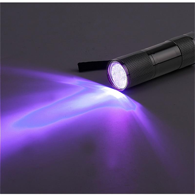 YAGE YG-340C Flashlight Mini UV LED Flashlight Violet Light 9 LED UV Torch Light Lamp for AAA Battery lanterns Credit cards недорого