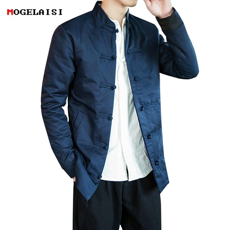 Jacken & Mäntel Realistisch Neue Jacken Männer Herbst Brust 106-122 Cm Leinen Baumwolle Chinesischen Stil Runde Schnallen Jacke Für Mann Flachs Mantel Stehkragen Größe M-3xl