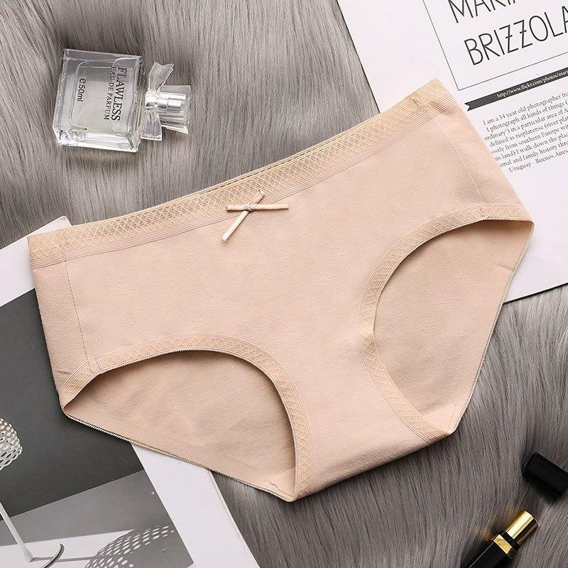 NEW Cotton underwear women briefs waist breathable simple comfortable bow girls underwear cotton large size Briefs panties in women 39 s panties from Underwear amp Sleepwears