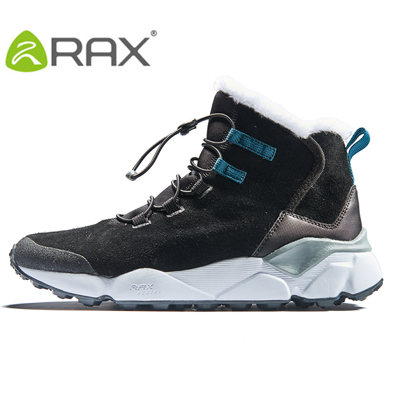 RAX 2018 autumn and winter outdoor snow boots men warm cold boots women wear leather shoes snow shoes snow shoes snow shoes serene handmade winter warm socks boots fashion british style leather retro tooling ankle men shoes size38 44 snow male footwear