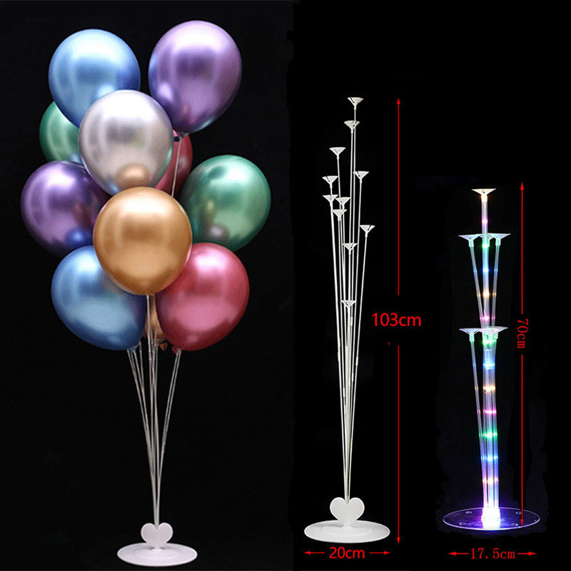 <font><b>7</b></font>/11 <font><b>tube</b></font> Led <font><b>Balloons</b></font> <font><b>Stand</b></font> Birthday Party Baby Shower Decoration Table <font><b>Balloon</b></font> Stick Ballon <font><b>Holder</b></font> Column Wedding Party Baloon image