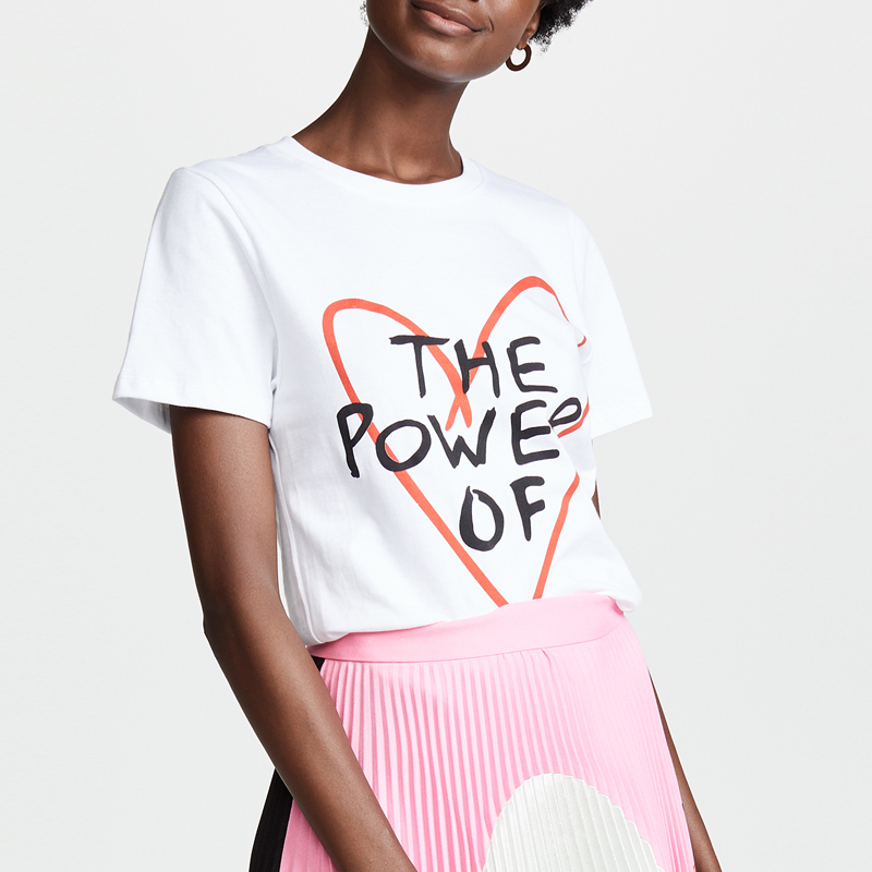 Letter Harajuku White T Shirt Women Tshirt Cotton Fashion Plus Size Pink Female T-Shirt Women Tops Haut Tee Shirt Femme 2019