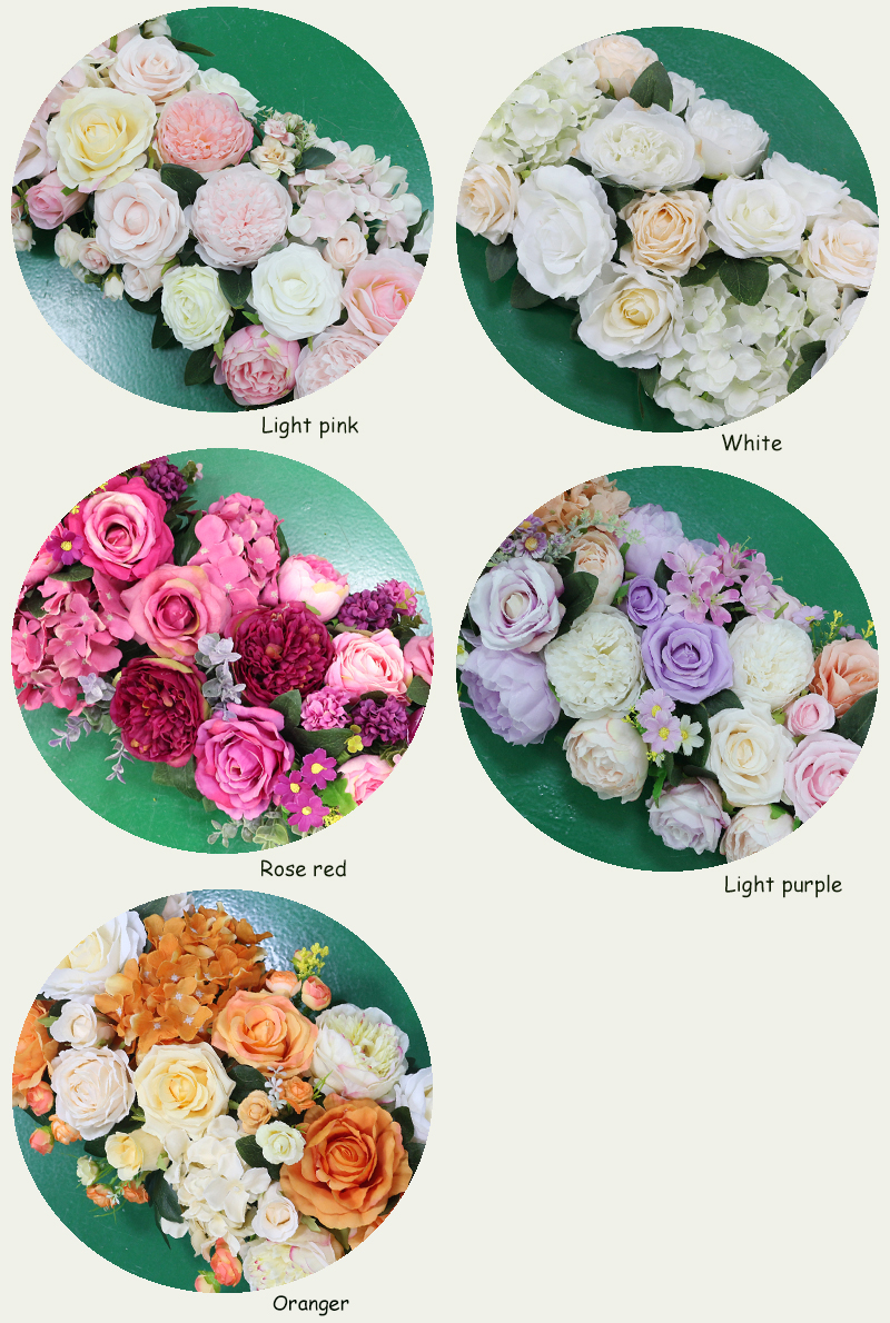 JAROWN Artificial 2M Rose Flower Row Wedding DIY Arched Door Decor Flores Silk Peony Road Cited Fake Flowers Home Party Decoration Maison (141)