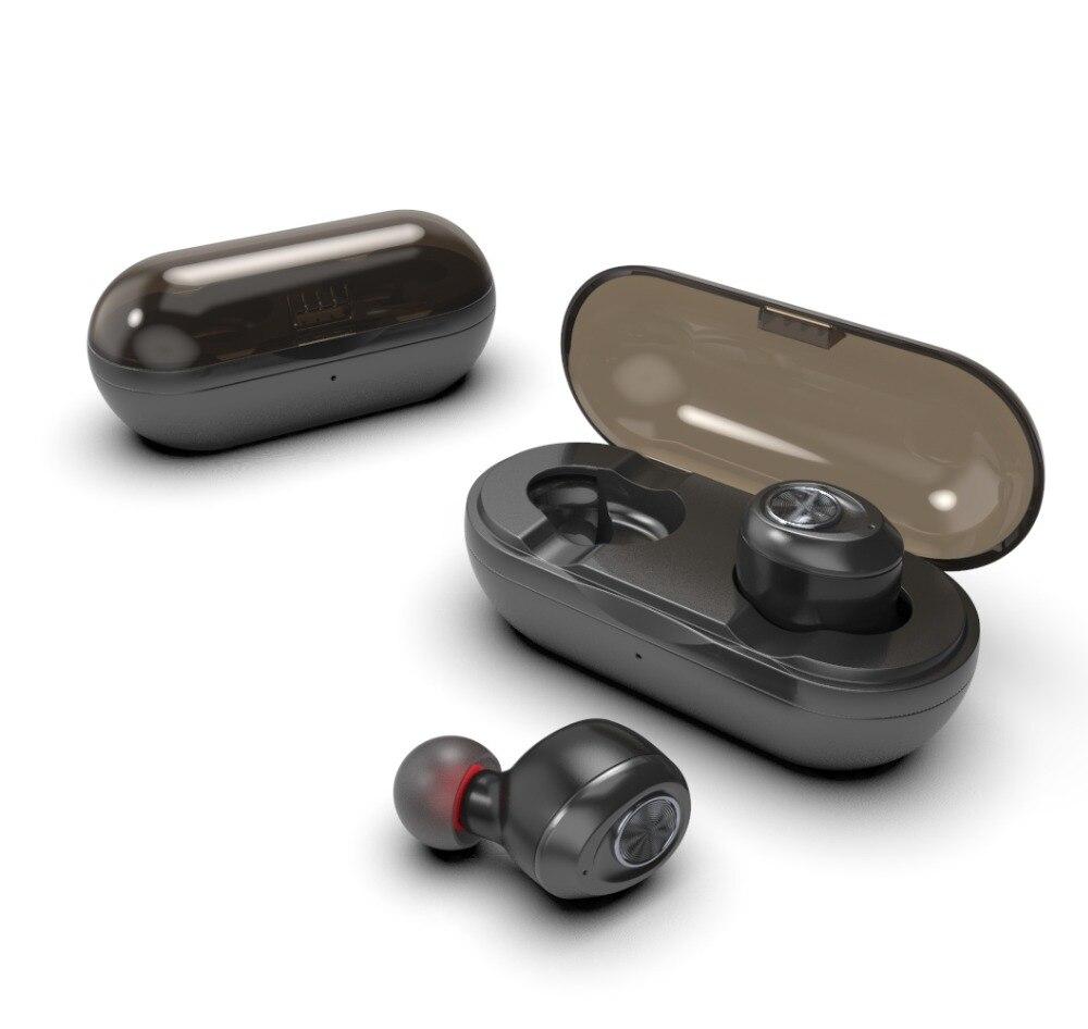 Capsule mini TWS sans fil écouteurs V5.0 Bluetooth écouteur casque basse profonde stéréo son Sport écouteur pour Samsung Iphone