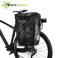 ROCKBROS Waterproof Bicycle Bag 27L Travel Cycling Bike Bag Rear Rack Tail Seat Trunk Bags Pannier