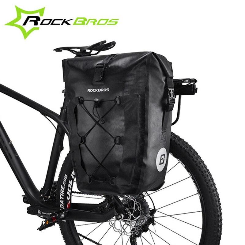 ROCKBROS водостойкая велосипедная сумка 27L дорожная велосипедная Сумка задняя стойка хвост сиденье багажник сумки Паньер MTB горный велосипед а...