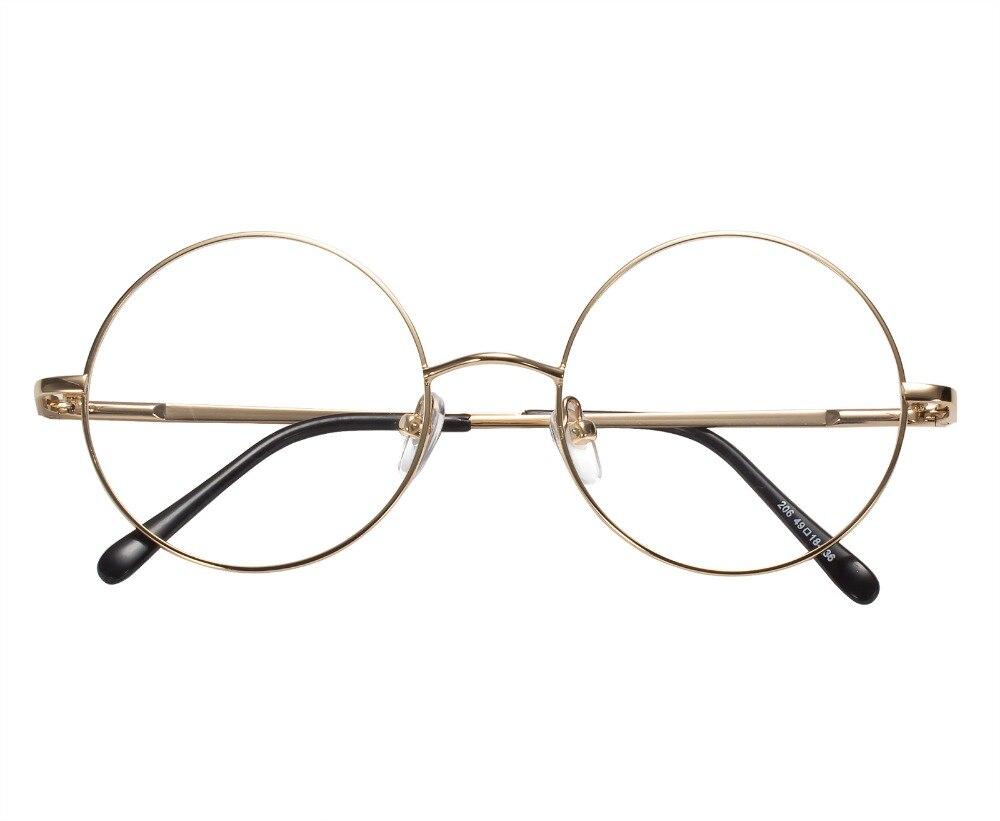 42mm Size Retro Vintage Eyeglass Frame Glasses Harry Potter Style Kacamata Lenon Metal Black 49 Mm Ukuran Bingkai Bulat Hitam Emas Perak