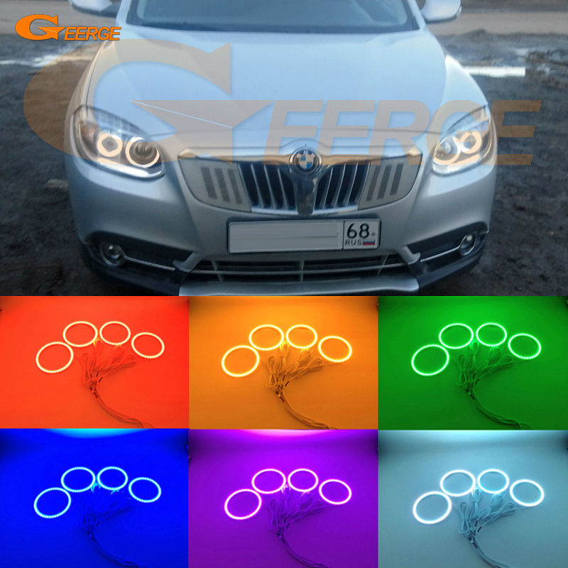 For Brilliance V5 2011 2012 2013 2014 Excellent led Angel Eyes Multi-Color Ultra bright RGB LED Angel Eyes kit Halo Rings for lifan 620 solano 2008 2009 2010 2012 2013 2014 excellent angel eyes multi color ultra bright rgb led angel eyes kit