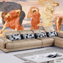 Фотография Custom Print DIY Fabric & Textile Wallcoverings For Walls Wall Mural Retro cotton and linen Washable For Living Room European