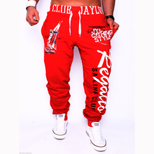 New brand Outside style men casual trousers pants fashion waistband elastic waist letters print pattern long pants M-XXL