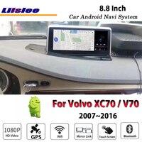 Liislee автомобильное мультимедиа андроид для Volvo XC70 V70 2007 ~ 2016 Радио Видео Стерео Зеркало Ссылка Wi Fi gps карта навигатор навигации Системы