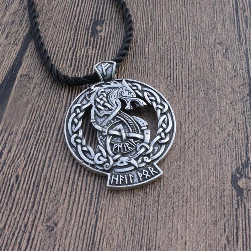 1pcs lanseis Fenrir Wolf Tyr Odin Viking Valhalla pendant Norse Pagan Gods jewelry Celt Rune men necklace pendant
