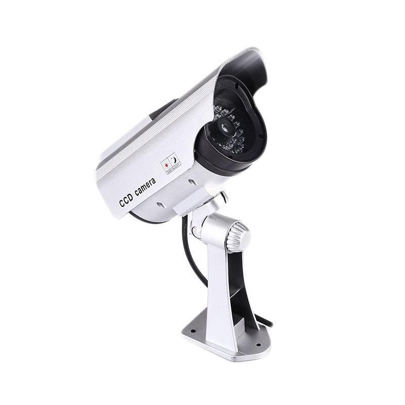 2017 New Hot Popular  Outdoor Solar Simulation Security Camera With LED Lights Public Place ABS Safety Decoration Camcorders
