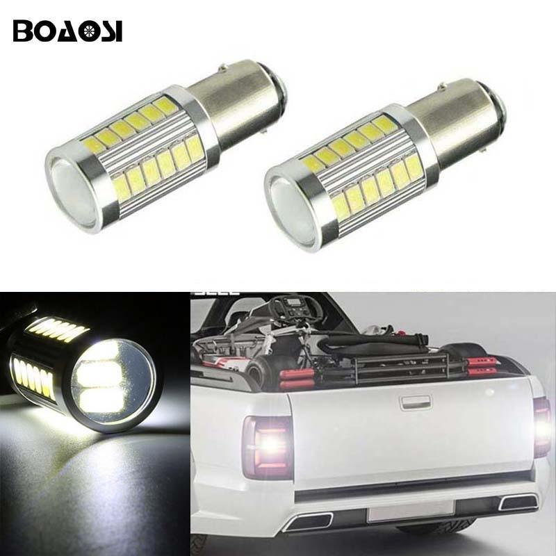 BOAOSI 2x მანქანის LED ნათურა 1156 5630 CREE ჩიპის სარეზერვო უკანა შუქის ბოლქვი Volkswagen VW jetta Passat B1 B2 B4 B3 B5 B6 T4 T5