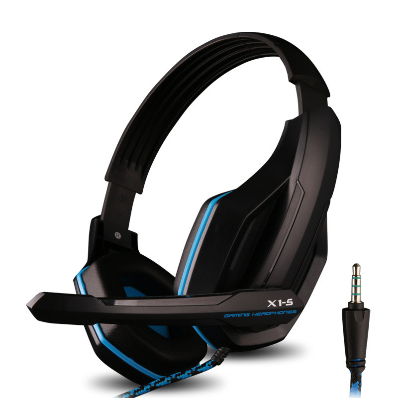 X1-S Headband Computer Headphones Gaming Headset internet Bar Earphones & Headphone Microphone 3.5mm Jack Over-Head Headsets