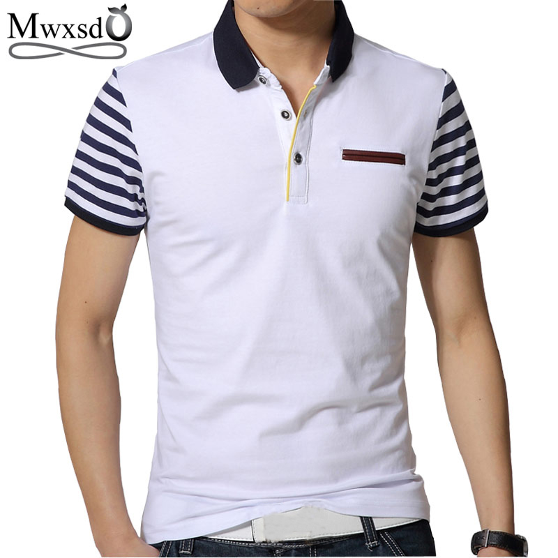 Mwxsd brand summer mens casual short sleeve   polo   shirts men slim fit striped cotton   polo   homme Camisa   Polo   Camisa Masculina
