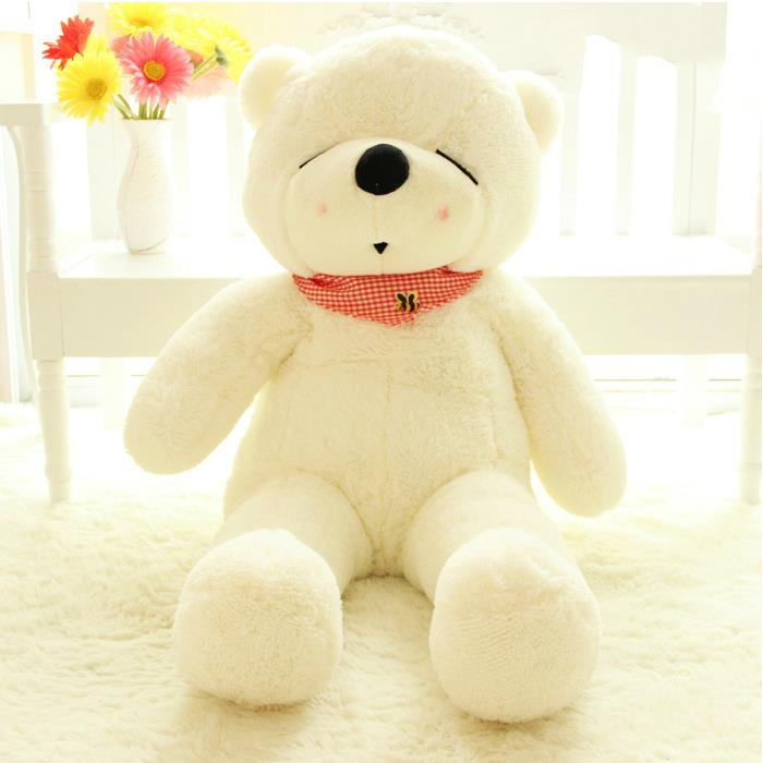 New 2014 bees scarf teddy bear 1pcs 80CM stuffed stuffed animals plush dolls classic toys gift wholesale