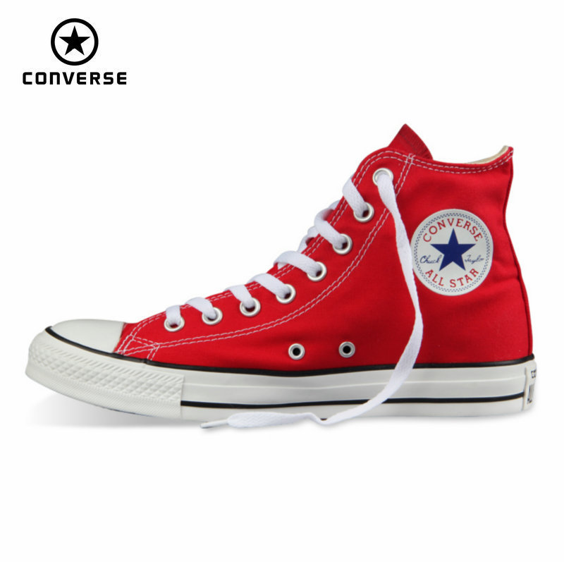 Original Converse all star shoes men and women's sneakers canvas shoes men women high classic Skateboarding Shoes free shipping(China)