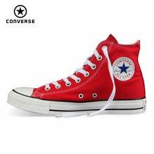 Первоначально конверс все звезды обувь мужчин и женщин кроссовки холст обувь мужчины женщины высокая классический скейтбордингом обувь