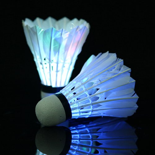 Wholesale 10*  5*Dark Night LED Badminton Shuttlecock Birdies Lighting