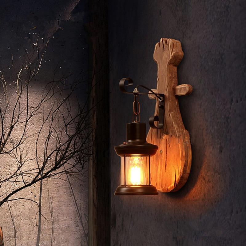 ՆՈՐ ձեղնահարկ Ամերիկյան Retro Solid Wood Wall - Ներքին լուսավորություն - Լուսանկար 5