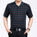 High quality brand men polo shirt new summer casual striped cotton men's polos short sleeve thin polo shirt Top men camisa