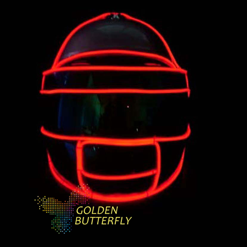 Cold Light Helmet Monochrome Full Color Luminous LED Helmet With 2017 Multiple Effects Glowing Party DJ Robot Mask Accessories