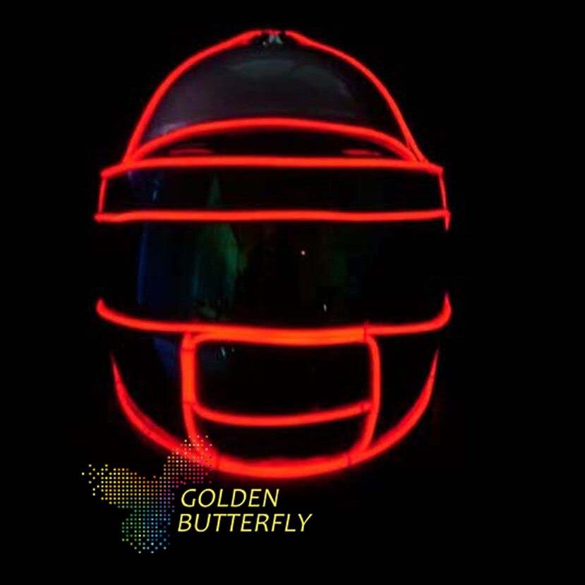 Lumière froide casque Monochrome couleur lumineux LED casque avec 2017  effets Multiples Rougeoyant Partie DJ Robot Masque accessoires 9aa51c428c9